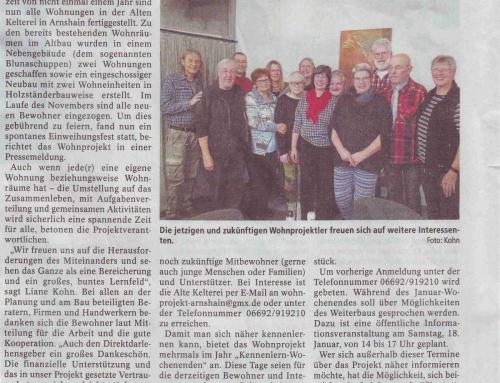 Oberhessische Zeitung vom 11.1.2020
